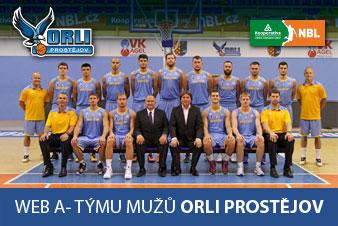 Orli Prostějov - účastník Kooperativa Národní basketbalové ligy